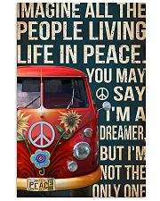 Imagine all the people living life in peace 11x17 Poster front