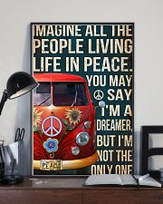 Imagine all the people living life in peace 11x17 Poster lifestyle-poster-2