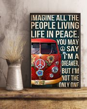 Imagine all the people living life in peace 11x17 Poster lifestyle-poster-3