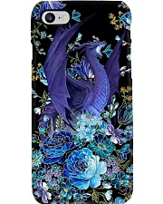 Blue floral dragon  Phone Case i-phone-8-case