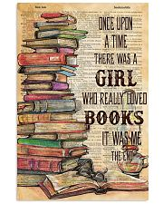 Once upon the time there was a girl loved books 11x17 Poster front