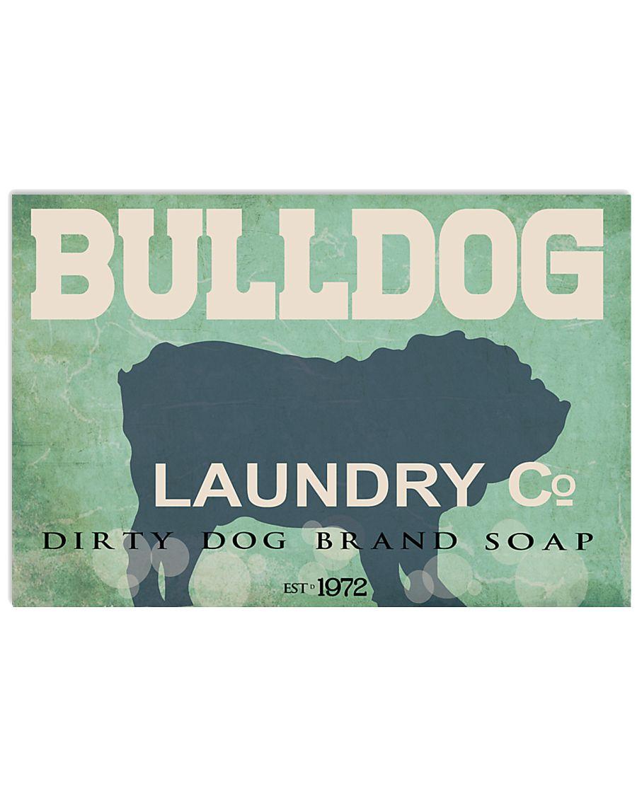 Bulldog laundry company 17x11 Poster