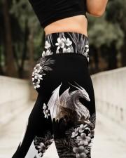 White Dragon Floral High Waist Leggings aos-high-waist-leggings-lifestyle-11
