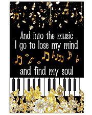 And into the music I go 11x17 Poster front