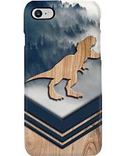 T-rex Faux Wood Print Phone Case i-phone-8-case