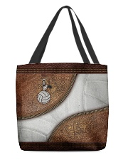 Volleyball Leather Pattern Print All-over Tote back