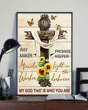 Way maker miracle worker promise keeper 11x17 Poster lifestyle-poster-2