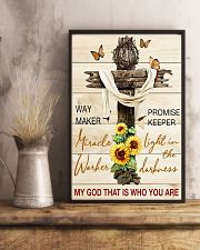 Way maker miracle worker promise keeper 11x17 Poster lifestyle-poster-3