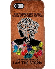 They whispered to her Leather pattern print Phone Case i-phone-8-case