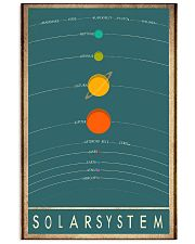 Solar system space 11x17 Poster front