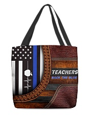 Teachers back the blue All-over Tote front