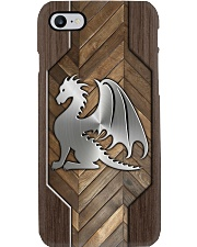 Dragon Lovers Faux Wood Phone Case  Phone Case i-phone-8-case