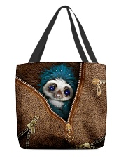 Sloth Leather Pattern Print All-over Tote back