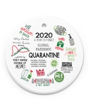 Ornament 2020 A Year To Forget Circle ornament - single (porcelain) front
