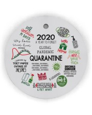 Ornament 2020 A Year To Forget Circle Ornament (Wood tile