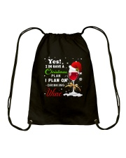 I Plan On Drinking Wine  Drawstring Bag thumbnail