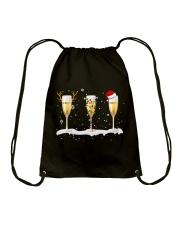 White Wine Glass Drawstring Bag thumbnail