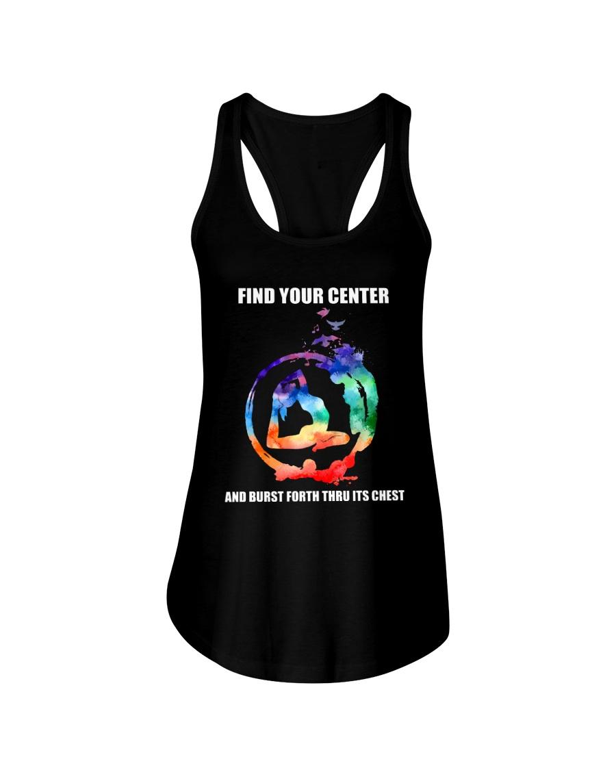 Find Your Center Ladies Flowy Tank