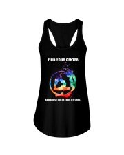 Find Your Center Ladies Flowy Tank front