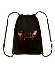 Love Wine  Drawstring Bag thumbnail