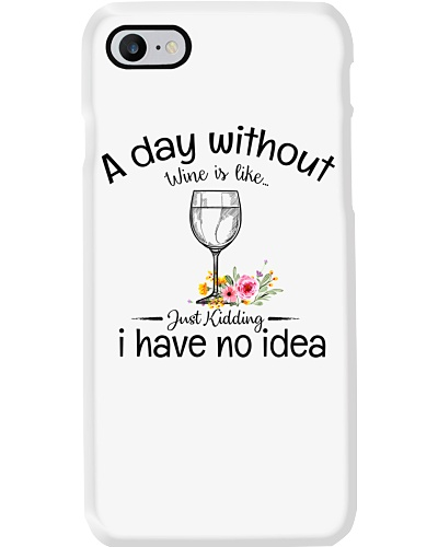 A day without Wine pillow