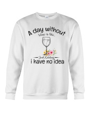 A day without Wine pillow Crewneck Sweatshirt thumbnail