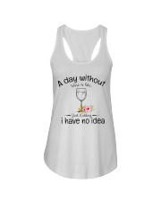 A day without Wine pillow Ladies Flowy Tank thumbnail