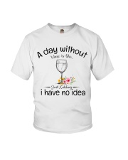 A day without Wine pillow Youth T-Shirt thumbnail