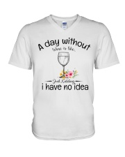 A day without Wine pillow V-Neck T-Shirt thumbnail