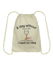A day without Wine pillow Drawstring Bag thumbnail