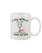 A day without Wine pillow Mug thumbnail