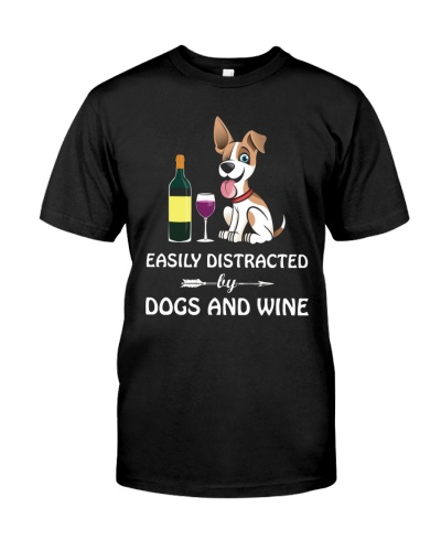 Easily Distracted By Dogs And Wine