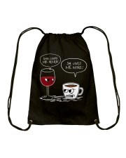 Wine - Coffee And Wife Drawstring Bag thumbnail