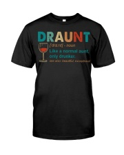 Wine Draunt Classic T-Shirt front