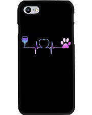Wine Dog Heartbeat Phone Case thumbnail