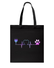 Wine Dog Heartbeat Tote Bag thumbnail