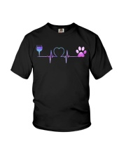 Wine Dog Heartbeat Youth T-Shirt thumbnail