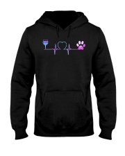 Wine Dog Heartbeat Hooded Sweatshirt front