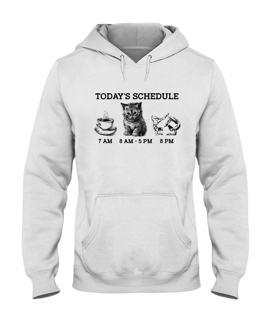 Today's Schedule Yoga  Hooded Sweatshirt showcase