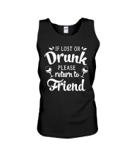 Wine If Lost Or Drunk Unisex Tank thumbnail