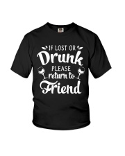 Wine If Lost Or Drunk Youth T-Shirt thumbnail