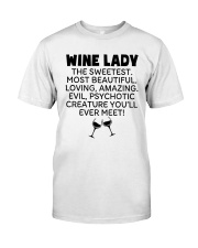 Wine Lady The Sweetest  Classic T-Shirt thumbnail