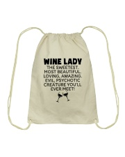 Wine Lady The Sweetest  Drawstring Bag thumbnail
