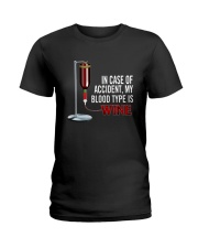 Wine In Case Of Accident Ladies T-Shirt thumbnail