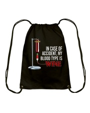 Wine In Case Of Accident Drawstring Bag thumbnail