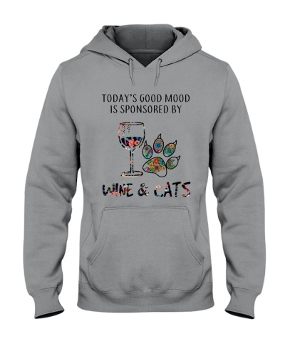 Today's Good Mood Is Sponsored By Wine And Cats