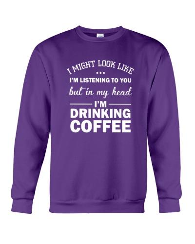I'm drinking coffee