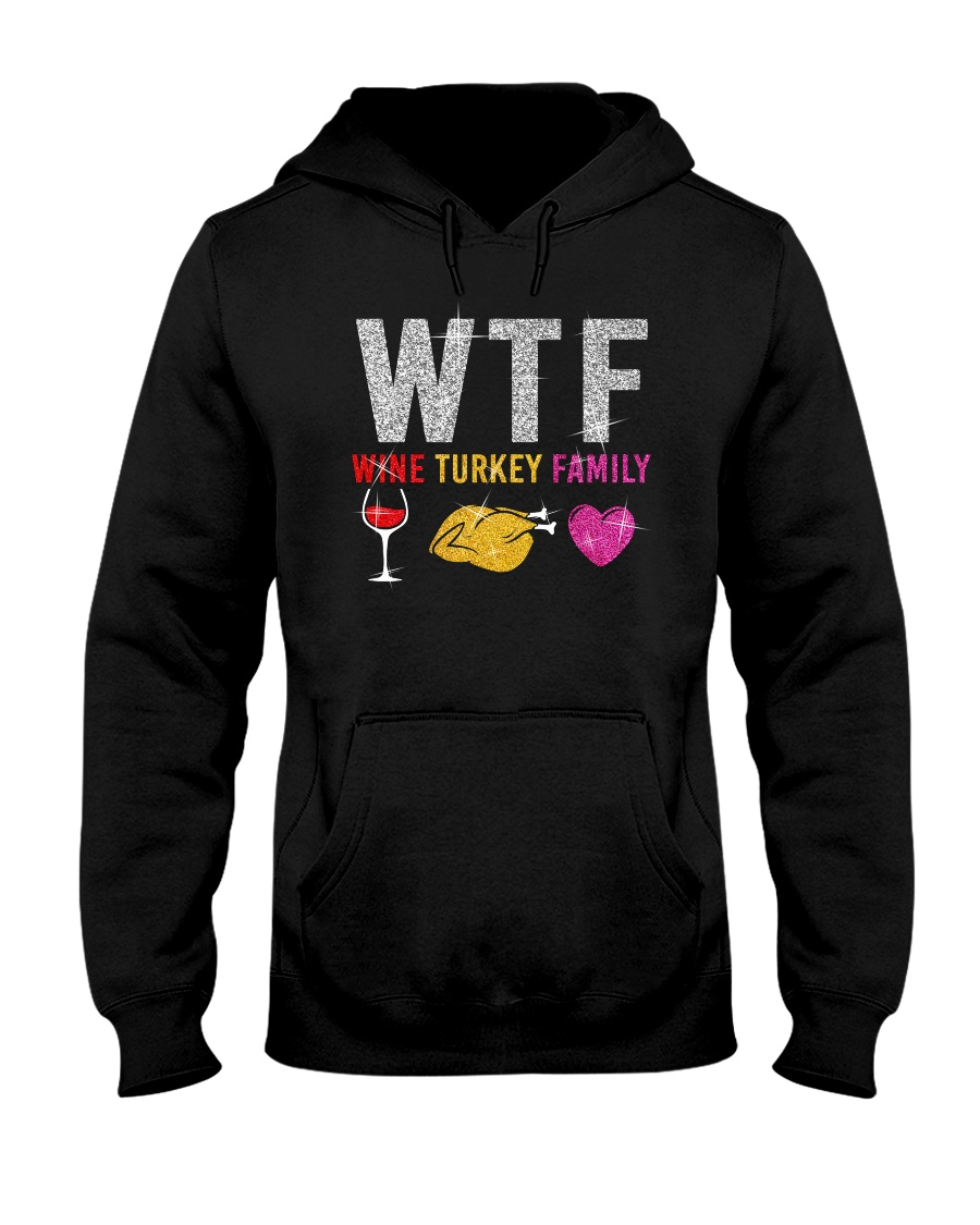 Wine Turkey Family Hooded Sweatshirt