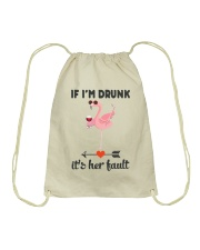 Wine If I'm Drunk Drawstring Bag thumbnail