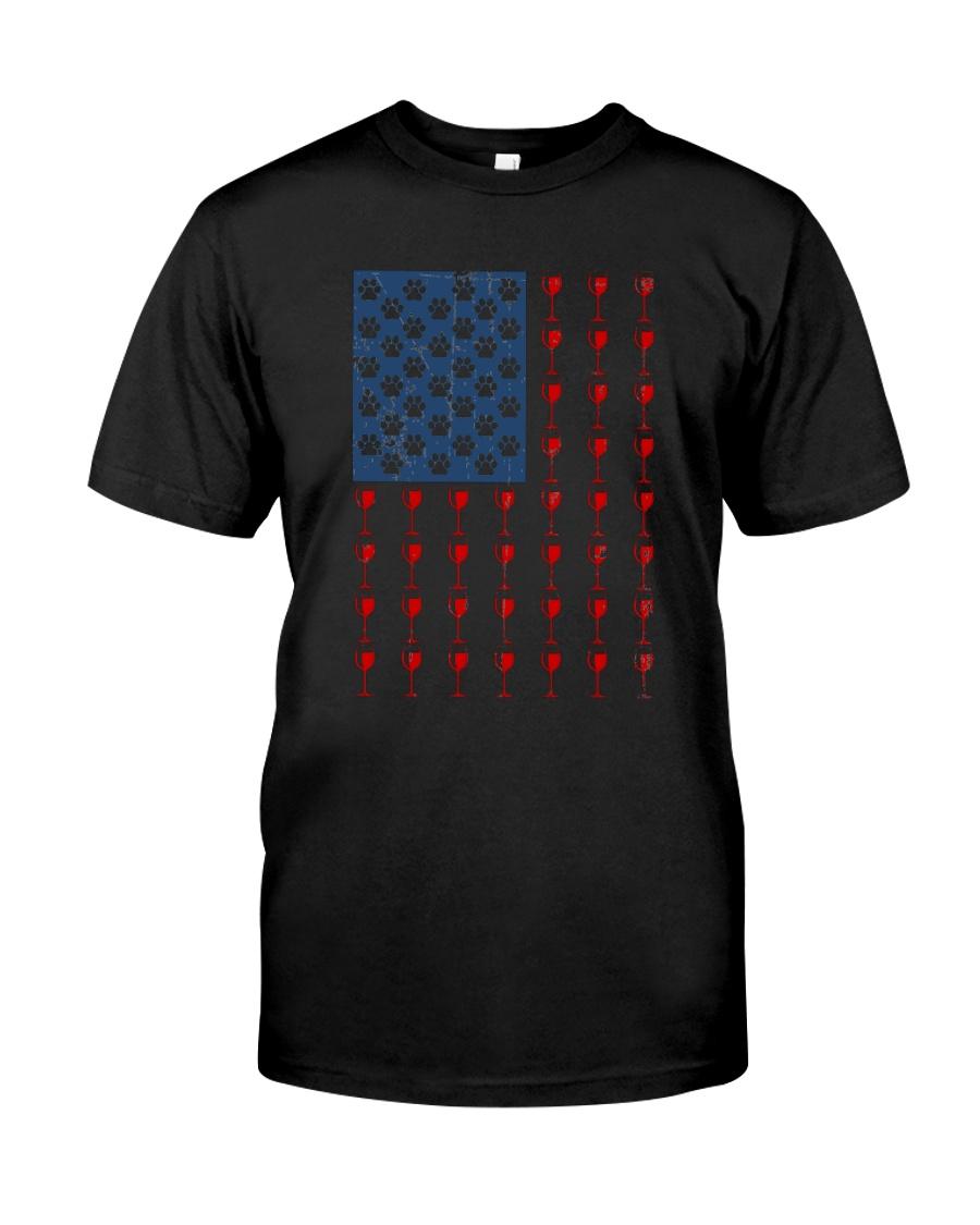 Dog Flag Mix Wine  Classic T-Shirt